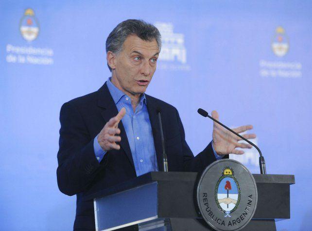 El presidente ofreció una conferencia de prensa desde la Quinta de Olivos.
