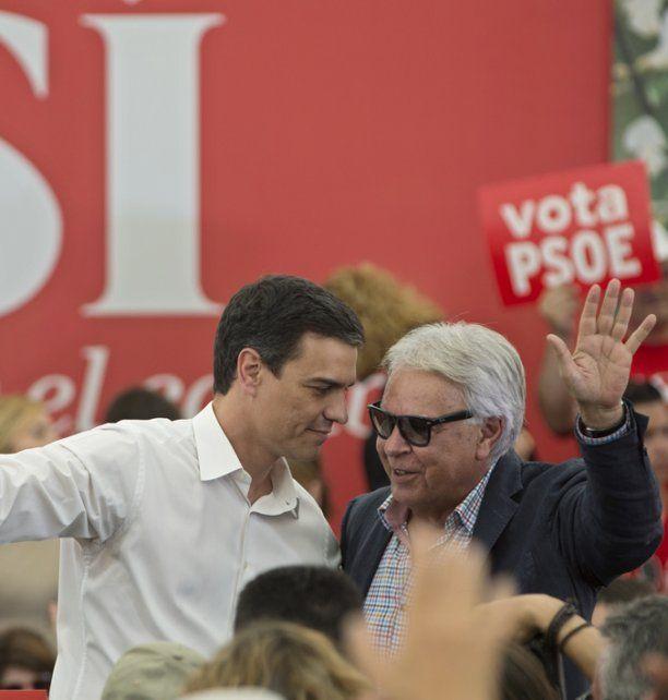 Cisma socialista. Sánchez y Felipe González; hoy están enfrentados.