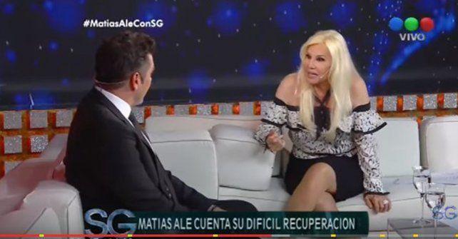 En el living. Susana y Alé dialogan durante el programa. Hablaron del estado de salud del actor tras su internación.