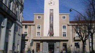 Singular. El Ayuntamiento de Pinerolo, donde se llevó a cabo la ceremonia.