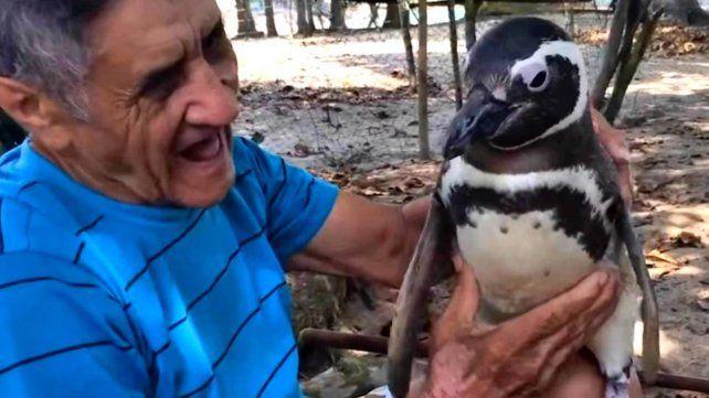 Dindim y João Pereira de Souza se reencontraron para celebrar su amistad.