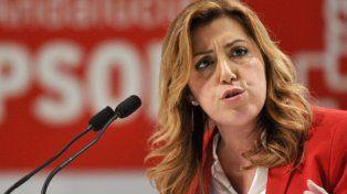 Fractura. La presidenta andaluza Susana Díaz