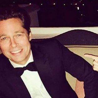 Las fotos de Brad Pitt y Selena Gómez circularon por Instagram.