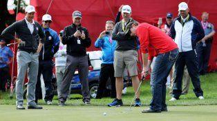 Retó al campeón desde el público y esto es lo que pasó en un campo de golf