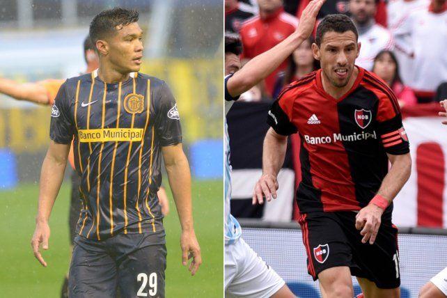 Teo Gutiérrez y Maxi Rodríguez se ausentarán este sábado en Central y Newells.