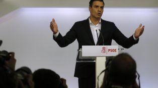 Golpeado. La primera intervención de Sánchez tras el estallido de la crisis interna en el socialismo español.