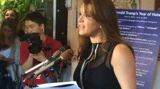 Disputa. La ex Miss Universo venezolana Alicia Machado apoya a Hillary.