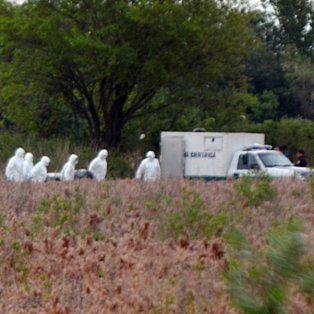 El lugar. El cuerpo apareció en un campo cercano a un cementerio privado.