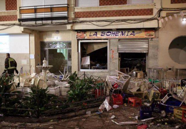 Destruido. El bar explotó durante la celebración de unas ferias.