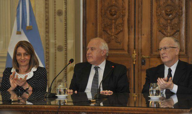 Juntos. La procuradora Alejandra Gils Carbó