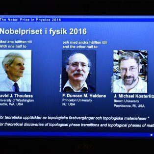 nobel de fisica para tres britanicos por sus investigaciones sobre la materia