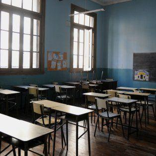 Aulas vacías por el paro docente.