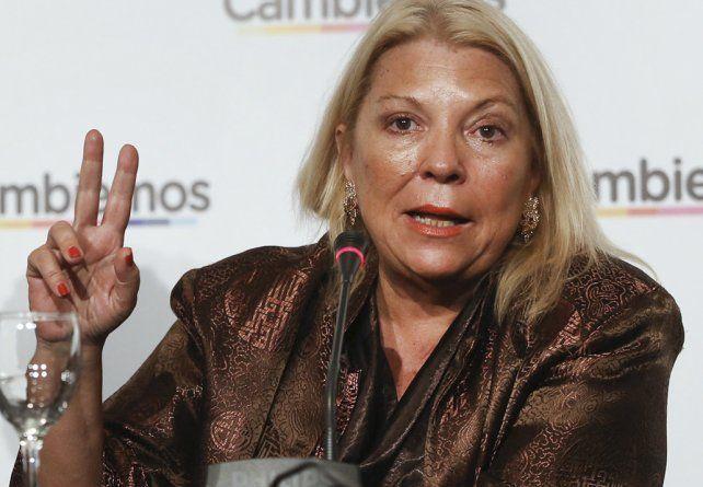 Operada y en reposo. La líder de la Coalición Cívica fue intervenida por una lesión en una arteria coronaria.