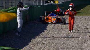 Indignación en Alemania por la agresiva reacción de un piloto tras un choque en pista