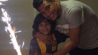 El hijo de Teo Gutiérrez eligió festejar su cumpleaños con la casaca canalla
