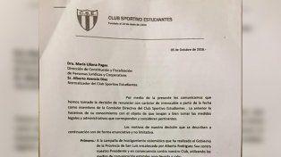 El presidente del club presentó la renuncia y con él se fue toda la comisión directiva.