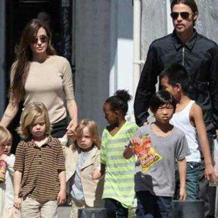 Ëpocas felices de la familia Pitt-Jolie.