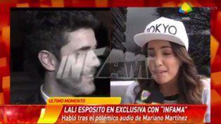 Lali Espósito respondió con fina ironía a las duras críticas de Mariano Martínez