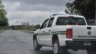 patrullaje. Una solitaria camioneta de Gendarmería recorría el martes una zona periférica de la ciudad.