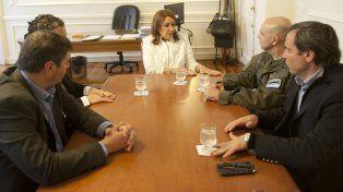 La intendenta Mónica Fein se reunió hoy con el jefe del operativo de Gendarmería