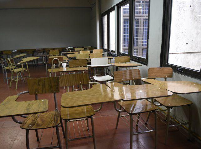 Aulas vacías. Los docentes universitarios harán otra jornada de paro el próximo viernes.