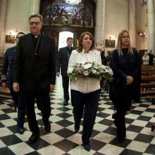 En la catedral. Martín habló en el marco del Día de la Virgen del Rosario.