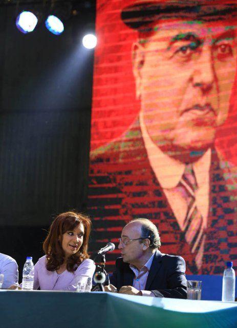Homenaje. Cristina Fernández estuvo en un acto por Hipólito Yrigoyen.