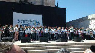 Desde el Patio Cívico del Monumento se puso en marcha el Encuentro de Mujeres.