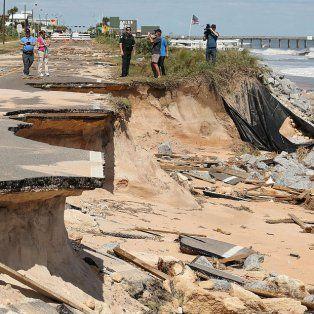 Avenida. La costa de Flagler Beach, ciudad ubicada 400 kilómetros al norte de Miami y a 100 km de Orlando.
