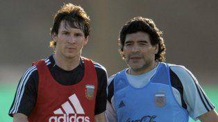 Son leyenda. Lionel Messi es el líder de Barcelona y la selección argentina. Maradona es el mejor jugador de todos los tiempos. Ambos son adorados por el pueblo rojinegro.