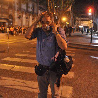 José Granata, tras recibir los impactos de bala.