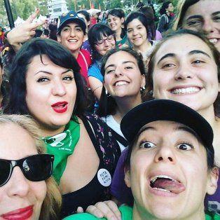 La actriz participó de la marcha que terminó con incidentes en Rosario.