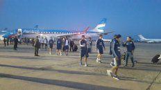El seleccionado argentino arribó a Córdoba para la décima fecha de Eliminatorias.