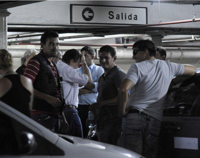 Cochera. Carlos Salvatore fue arrestado en un súper rosarino en 2012.
