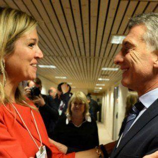 Máxima y Macri se encontraron en Davos en enero de este año.