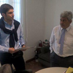 El ministro de Seguridad provincial, Maximiliano Pullaro, durante su encuentro con el fiscal regional Jorge Baclini.