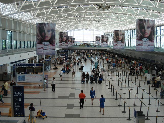 El aeropuerto de Ezeiza.