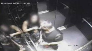 Una de las cámaras que captó a la chica en estado de ebriedad junto al abusador