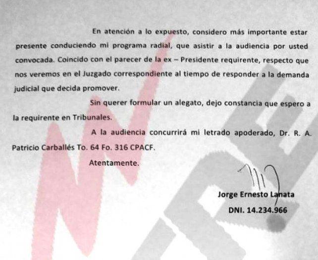 Cristina arribó a la audiencia de mediación con Lanata y Wiñazki, pero los periodistas no concurrieron