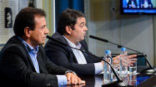 Paz. Mario Quintana y Jorge Triaca explicaron la oferta que le hicieron a la CGT. Dicen que no hay razón para parar.
