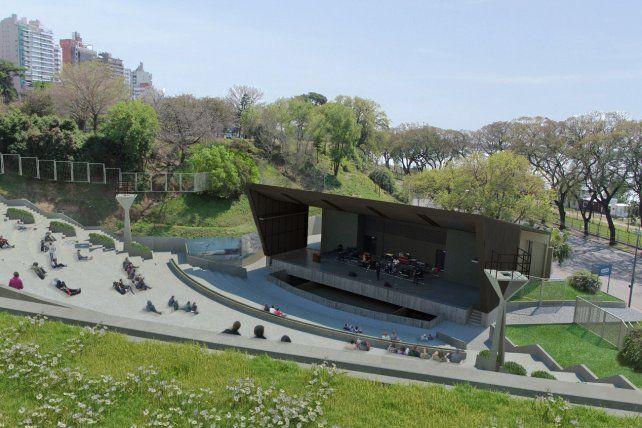 Proyecto. Las obras previstas incluyen la instalación de una cubierta sobre el escenario de 340 metros cuadrados.