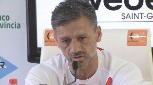 Nelson Vivas lloró durante la conferencia de prensa previa al partido ante Central.