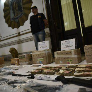 En la delegación local de la División Antidrogas de la Policía Federal se exhibió ayer todo lo secuestrado.