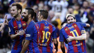 Lionel volvió en el Barsa y se reencontró con el gol.