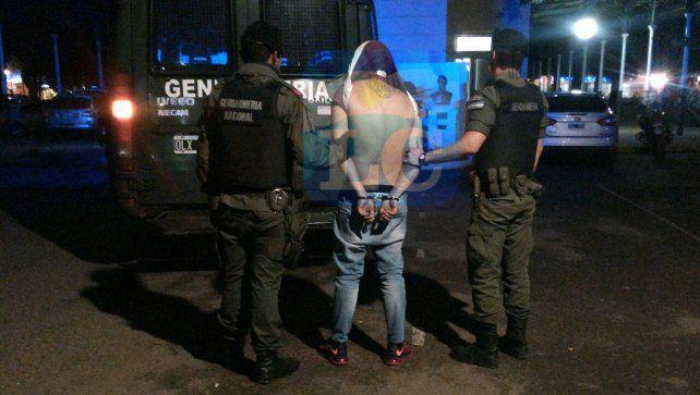 Alexis Camino fue arrestado en horas de esta tarde en barrio Municipal.