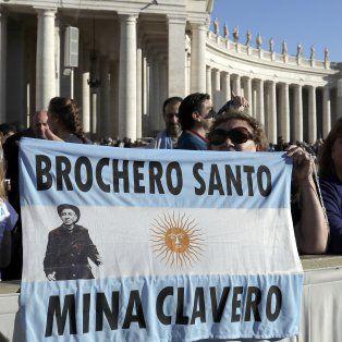 Los fieles celebraron la canonización de Brochero.