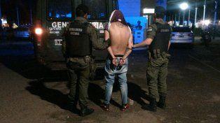 Atrapado. Alexis fue apresado por gendarmes en el barrio Municipal.