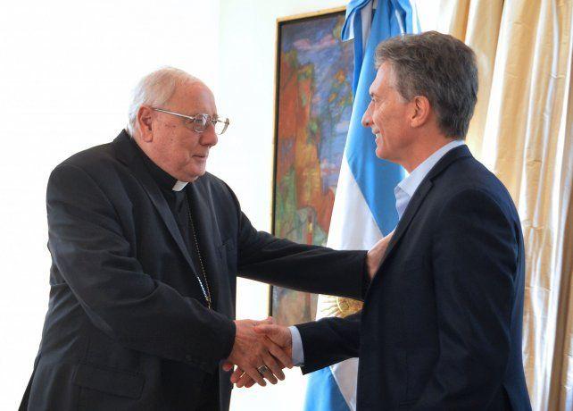 Arancedo junto al presidente Macri.