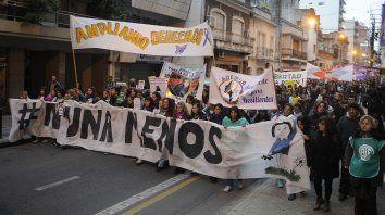 La marcha es contra la violencia de genero y los femicidios.