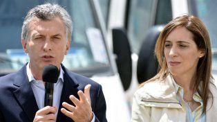 El presidente Mauricio Macri junto a la gobernadora de Buenos Aires, María Eugenia Vidal.